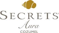 Secrets Aura Cozumel logotipo